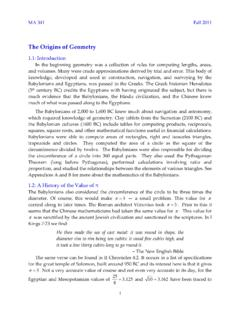 Chapter 01-The Origins of Geometry