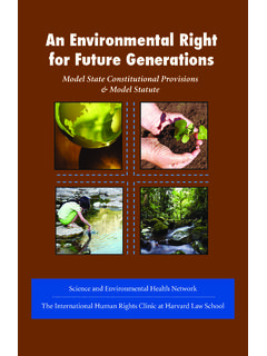 An Environmental Right for Future Generations - …