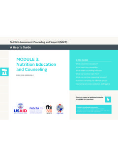 Module 3. Nutrition Education and Counseling (NACS User's ...
