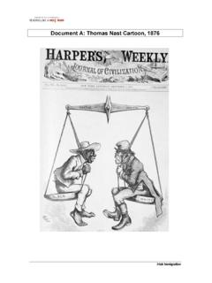 Document A: Thomas Nast Cartoon, 1876 - Weebly