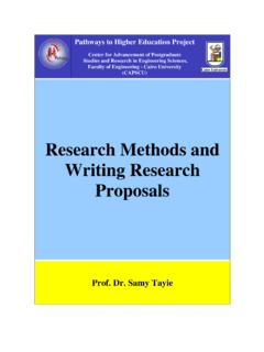 C3-1 Research Methods and Writing Research Proposals