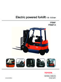 Electric powered forklift 1.6 - 5.0 ton 7FBMF 7FBMF-S
