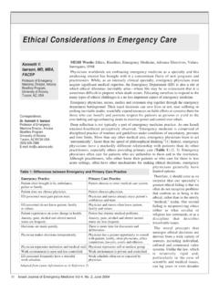 Ethical Considerations in Emergency Care - ISRJEM