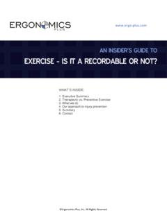 EXERCISE - IS IT A RECORDABLE OR NOT?