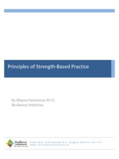 Principles of Strength-Based Practice