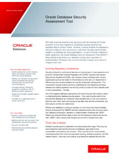 Oracle Database Security Assessment Tool