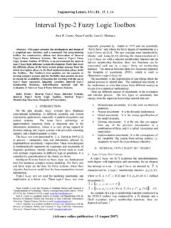 Interval Type-2 Fuzzy Logic Toolbox - Engineering Letters
