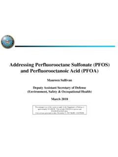 Addressing Perfluorooctane Sulfonate (PFOS) and ...