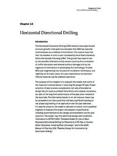 Horizontal Directional Drilling - Municipal & Industrial