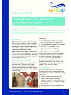 Information Sheet Toileting Resources for Children with ...