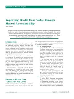 Improving Health Care Value through Shared …