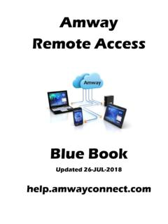 Blue Book - help.amwayconnect.com