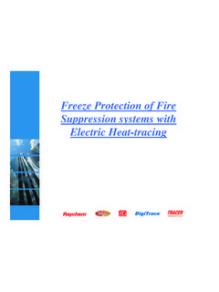 Freeze Protection of Fire Suppression systems with ...