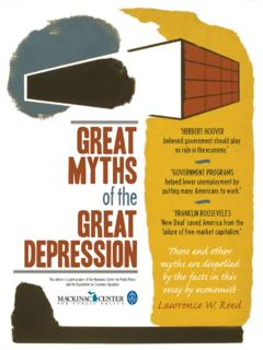 Great Myths Great Depression These and other by the facts ...