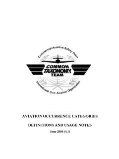 AVIATION OCCURRENCE CATEGORIES …