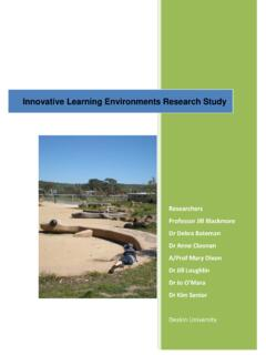 Innovative Learning Environments Research Study
