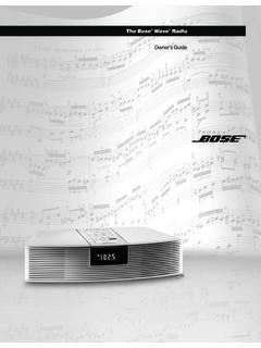 The Bose Wave Radio