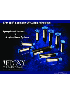 EPO-TEK Specialty UV Curing Adhesives