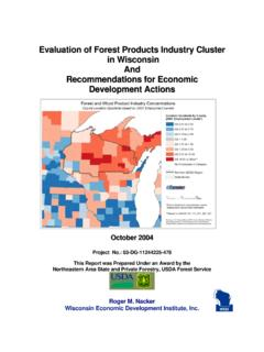 Evaluation of Forest Products Industry Cluster in ...