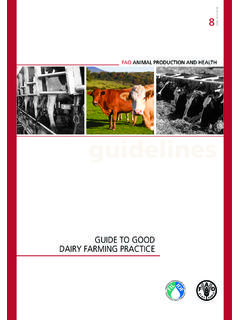 Guide to good dairy farming practice - Home | Food and ...
