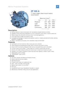 ZF 305 A-Descrip - Marine Parts Express