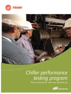 Chiller perormancf e testing program - Trane