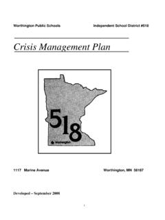 Crisis Management Plan - Independent School District 518