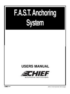 F.A.S.T. Anchoring System - Chief Automotive …