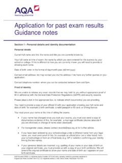 Application for past exam results guidance notes ...