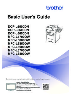 Basic User's Guide - Brother