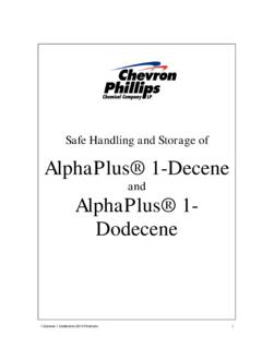 Safe Handling and Storage of AlphaPlus® 1-Decene