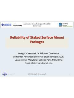 Reliability of Staked Surface Mount Packages - ieee-astr.org