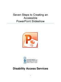 Seven Steps to Creating an Accessible PowerPoint Slideshow