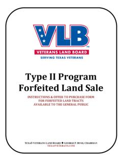 Type II Program Forfeited Land Sale - Texas General Land ...