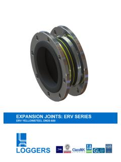 EXPANSION JOINTS: ERV SERIES - Loggers