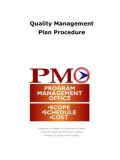 Quality Management Plan Procedure - New Jersey