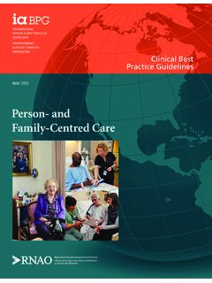 Person- and Family-Centred Care - rnao.ca