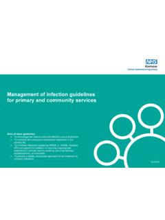 Management of infection guidelines for primary and ...