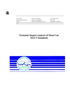 Economic Impact Analysis of Metal Can MACT …