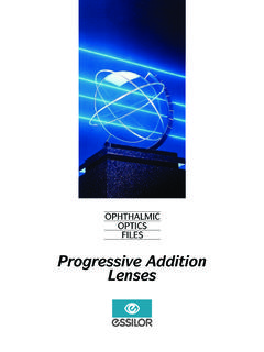 Progressive Addition Lenses Ang - Essilor Academy