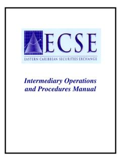 Intermediary Operations and Procedures Manual