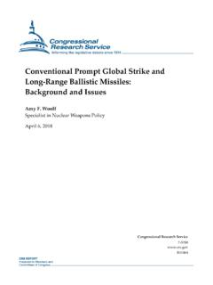 Conventional Prompt Global Strike and Long-Range Ballistic ...