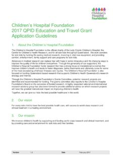 Children's Hospital Foundation 2017 QPID Education and ...