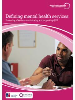 Defining mental health services - NHS Confederation
