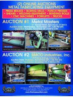 PRESS BRAKES • BORING MILLS • PUNCH PRESSES • SHEARS ...