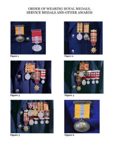 ORDER OF WEARING ROYAL MEDALS, SERVICE …