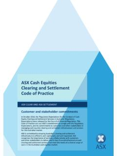 ASX Cash Equities Clearing and Settlement Code of …