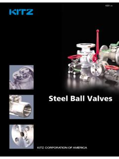 KITZ Steel Ball Valves - AIV, Inc.