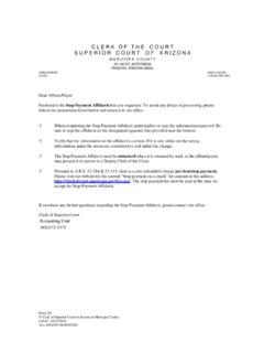 STOP PAYMENT AFFIDAVIT - Clerk of Superior Court