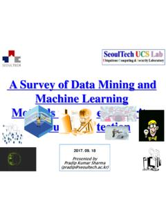 A Survey of Data Mining and Machine Learning …